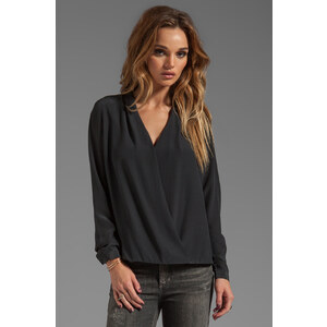 Feel the Piece Shrimpton Blouse in Black