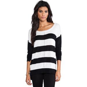 Feel the Piece Bold Stripe Sweater in Black
