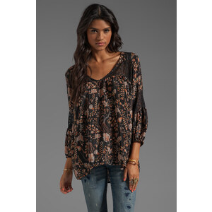 Tolani Celine Blouse with Lace in Black