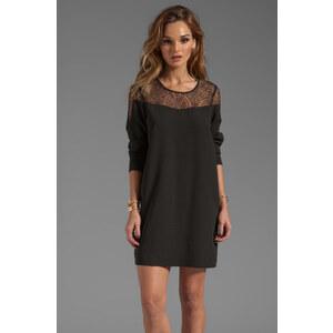 Maison Scotch Long Sleeve Lace Dress in Black