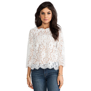 Joie Allover Lace Elvia C Top in White