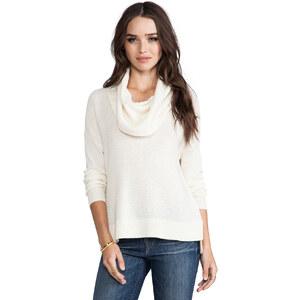 Joie Dimensional Chevron Knit Chesney Sweater in Cream