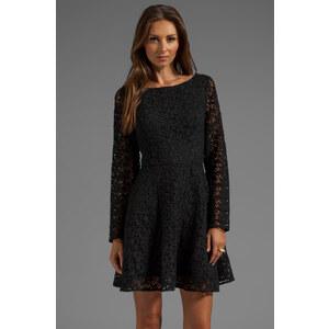 Joie Heavy Cotton Lace Palmira Dress in Black
