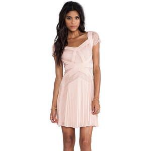 BCBGMAXAZRIA Aris Short Sleeve Dress in Blush