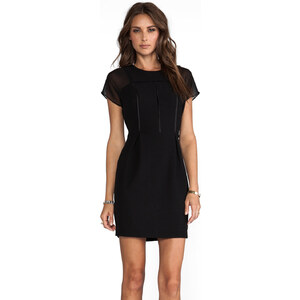 heartLoom Lea Black Short Sleeve Dress in Black