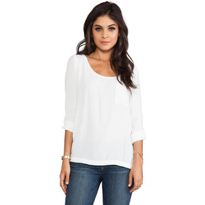Soft Joie Wyoming Pocket Top in White