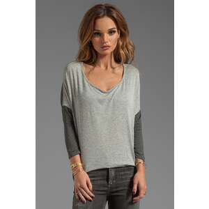 Tylie Color Block Fitted Tunic in Gray