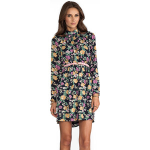 JARLO Jesse Long Sleeve Floral Dress in Purple