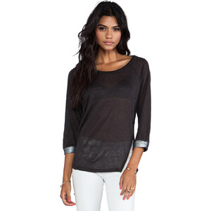TOWNSEN Twilight 3/4 Sleeve Top in Charcoal