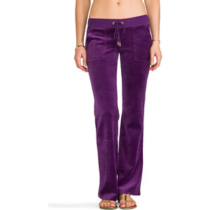 Juicy Couture J Bling Bootcut Pant in Purple