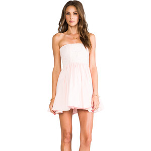 Casper & Pearl Lux Strapless Dress in Peach