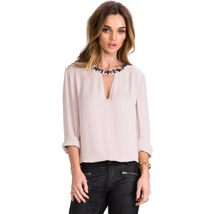BCBGMAXAZRIA Frances Blouse in Mauve