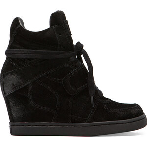 Ash Cool Wedge Sneaker in Black