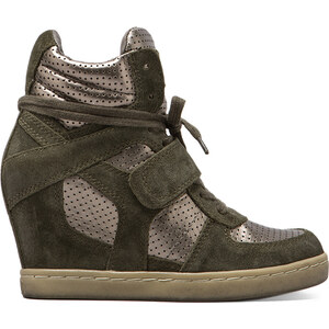 Ash Cool Wedge Sneaker in Green