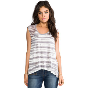 Young, Fabulous & Broke Delainey Sketchy Stripe Top in Gray