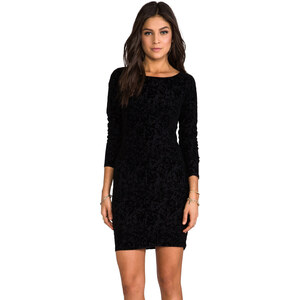 Alice + Olivia Tabitha Fitted Dress in Black