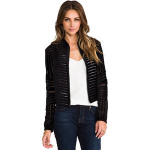Parker Embroidered Aquata Jacket in Black