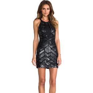Parker Sequined Aubrey Dress in Black