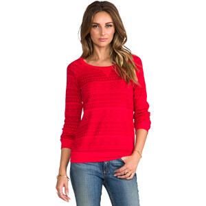 Splendid Fair Isle Sweatshirt in Red