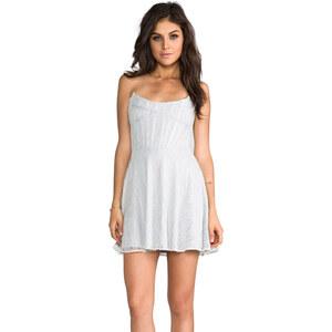 For Love & Lemons Corset Mini Dress in White