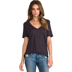 My Line Jezebel V Neck in Charcoal