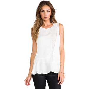 Marc by Marc Jacobs Victoria Lace Top in Ivory