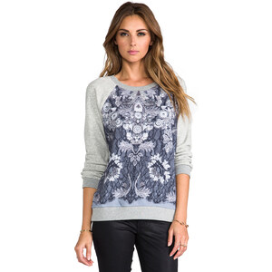 Marc by Marc Jacobs Lena Printed Sweatshirt in Gray