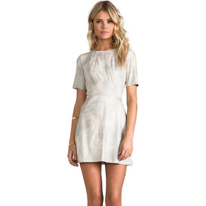 Alexis Roman Dress in Metallic Neutral