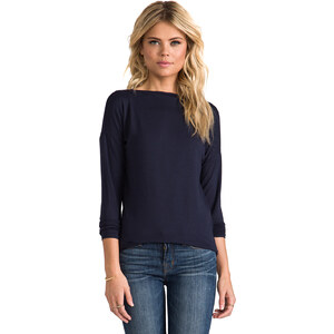 Vince Boatneck Tee in Navy