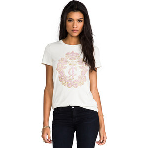 Juicy Couture Crown Cameo Top in Ivory