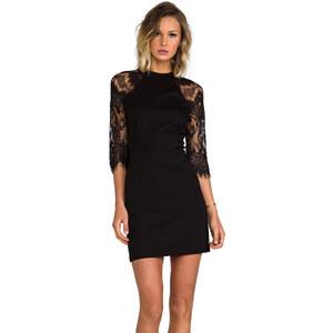 BB Dakota Princeton Ponte Dress w/ Lace Sleeves in Black