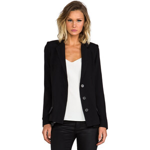 10 CROSBY DEREK LAM Double Pocket Tuxedo Jacket in Black