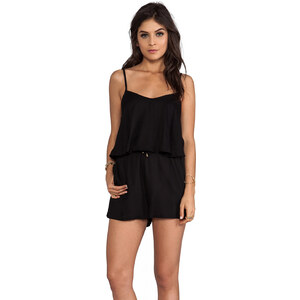 MINKPINK Wipeout Play Suit in Black