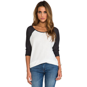 RVCA Label Ziggy Top in White