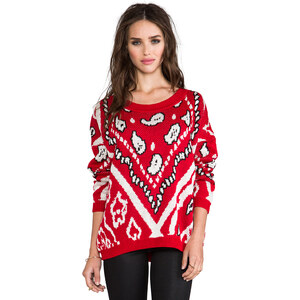 MINKPINK Street Smart Knitted Pullover in Red
