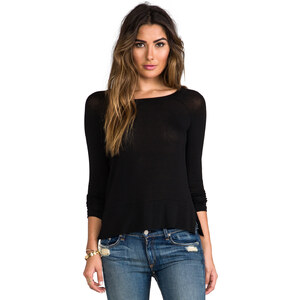 Splendid Drapey Lux Top in Black