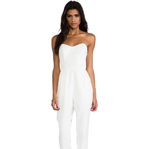 keepsake Playing With Fire Pantsuit in White