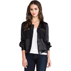 7 For All Mankind Bomber Jacket in Black