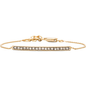 Juicy Couture Pave Bar Bracelet in Metallic Gold