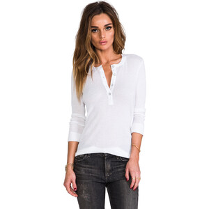 rag & bone/JEAN The Basic Henley in White