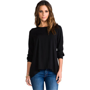 James Perse Artist Blouse in Black