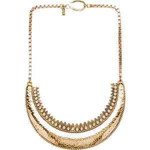 Vanessa Mooney Last Daylight Statement Necklace in Metallic Gold