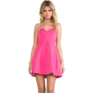 BLAQUE LABEL Strapless Dress in Pink