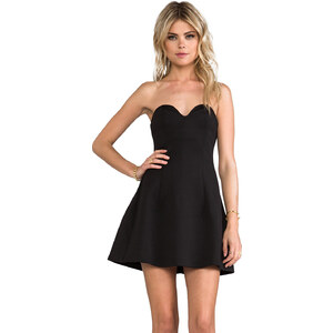 BLAQUE LABEL Strapless Dress in Black