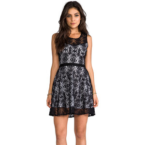 Jack by BB Dakota Diza Nouveau Lace Dress in Black