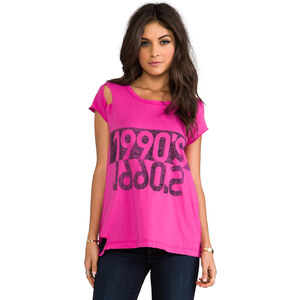 Rebel Yell 1990's Torn Tee in Pink