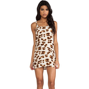 Friend of Mine Drifter Animal Print Dress in Tan