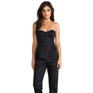 MILLY Strapless Jumpsuit in Black