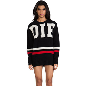 UNIF Die Sweater Tunic in Black