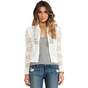 Free People Sun Storm Bomber Jacket in Ivory
